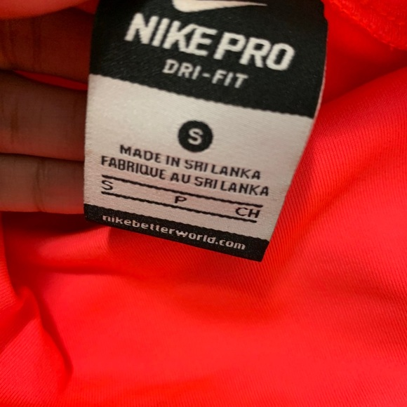 Pink Nike Dri fit long sleeve with turtle neck